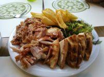 Delicious pita and pork dish